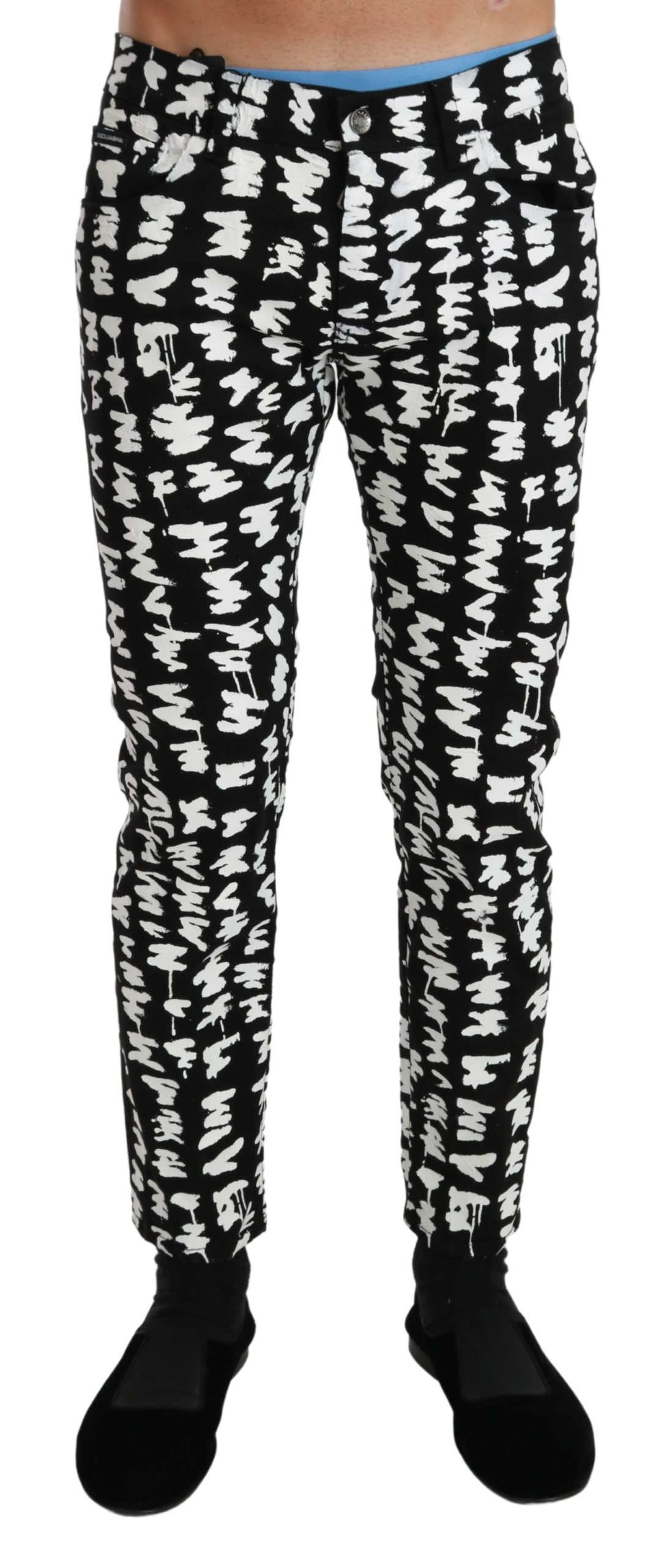 Dolce & Gabbana Men's Cotton Stretch CLASSIC Jeans Black PAN71037 - IT44 | XS