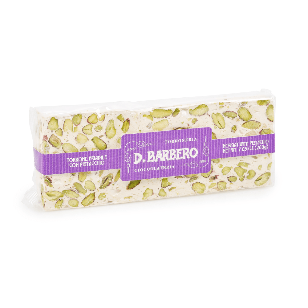 Crumbly Pistachio Nougat Torrone 200g by D. Barbero
