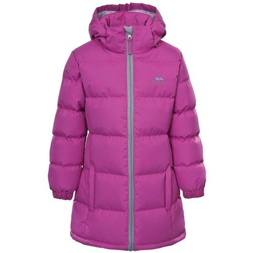 Trespass Kid's Puffa Jacket Various Colours Tiffy - Deep Pink 3 to 4 Years