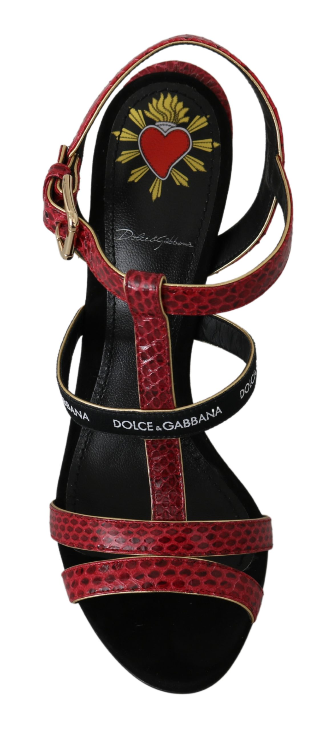 Dolce & Gabbana Women's Ayers Leather Sandals Red - EU35/US4.5