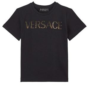 Versace Logo T-shirt Svart 4 år