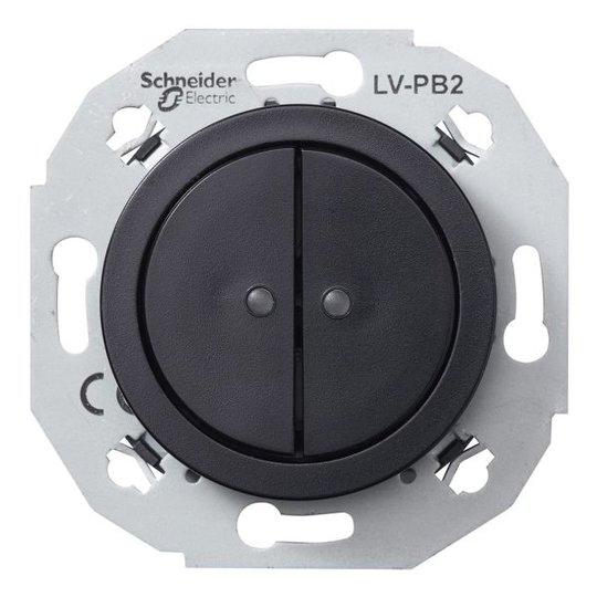 Schneider Electric WDE011271 Pienjännitepainike musta 2-napainen
