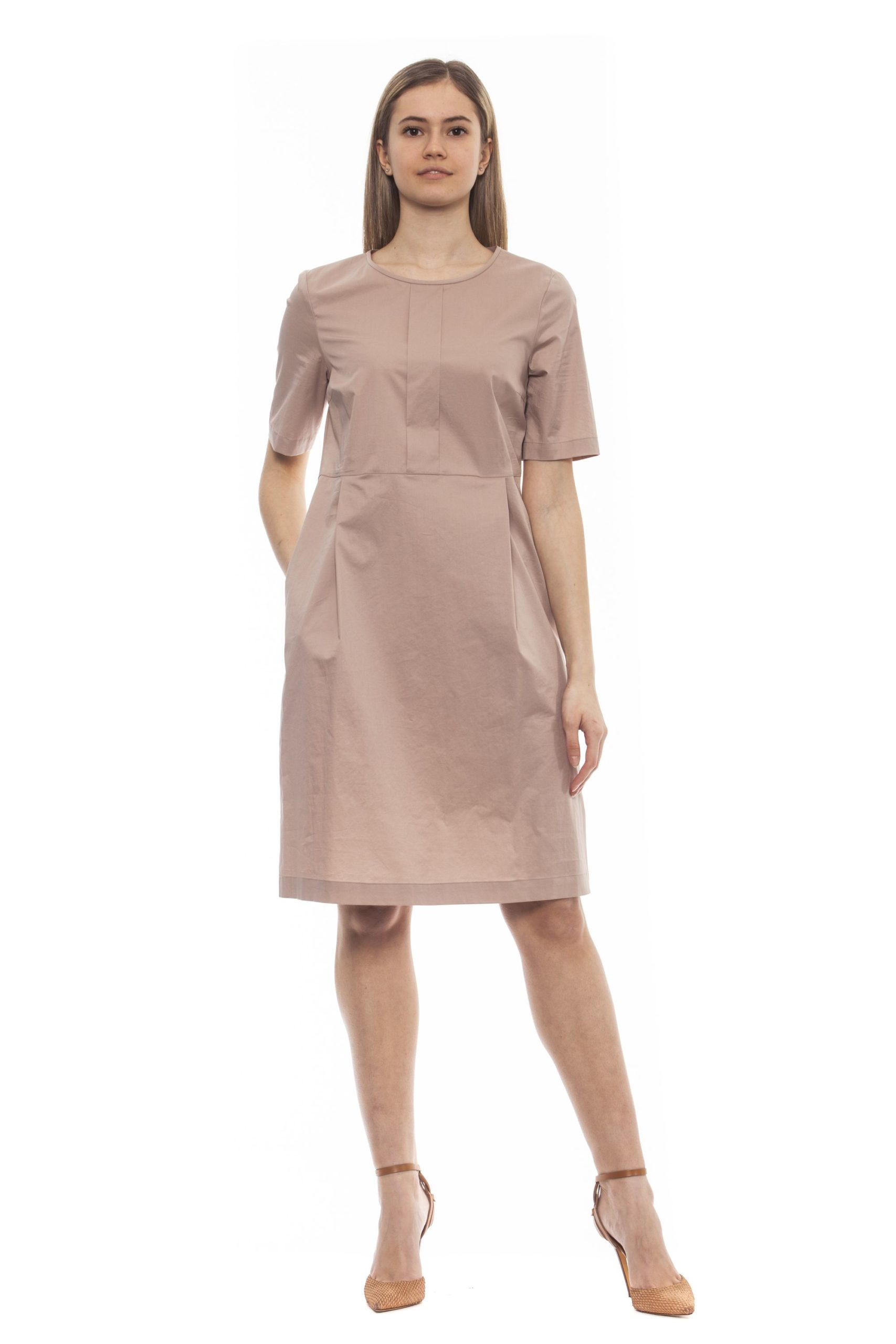 Peserico Women's Rosa Dress Pink PE1383216 - IT42 | S