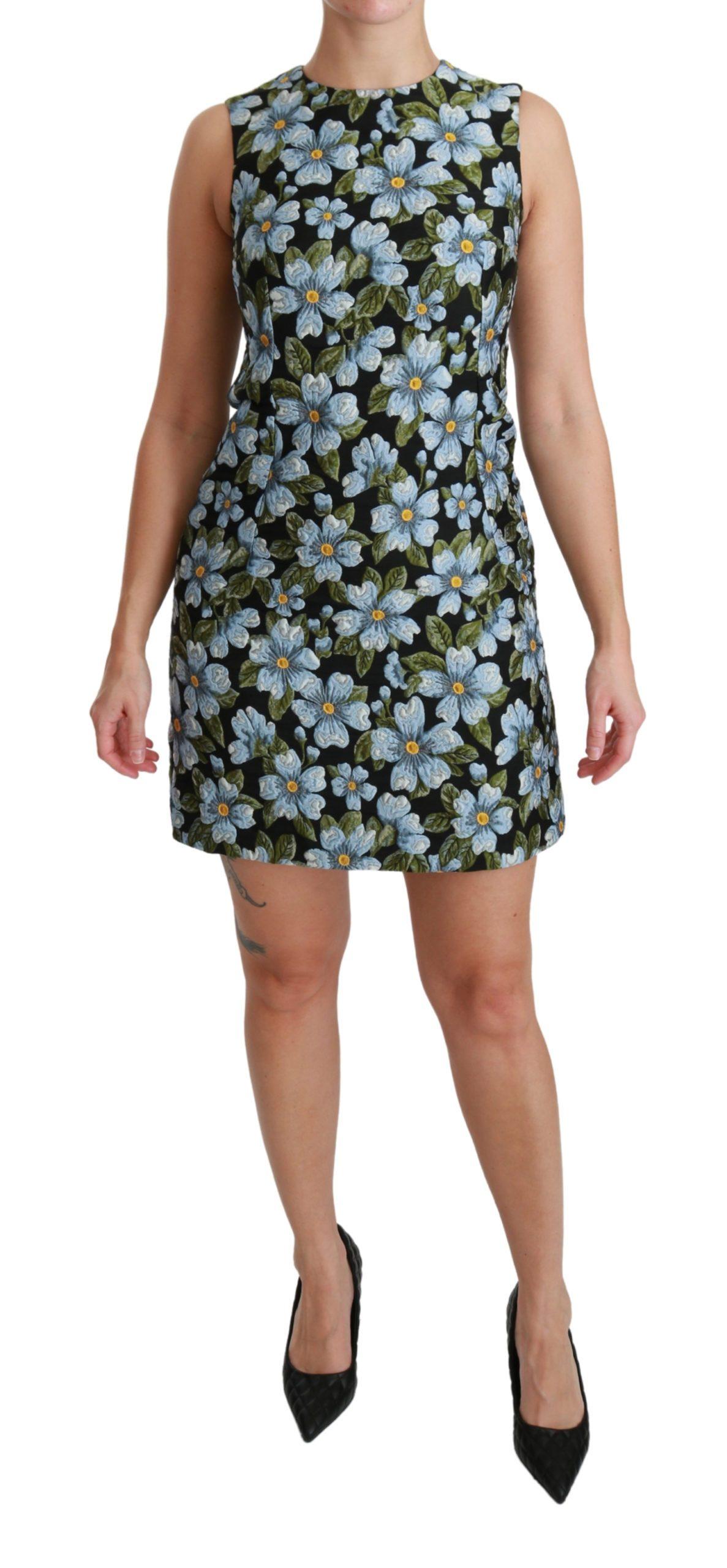 Dolce & Gabbana Women's Floral Brocade Gown Shift Dress Multicolor DR2513 - IT36 | XS