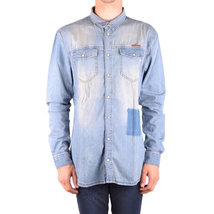 Frankie Morello Men's Shirt Blue 163243 - blue XL