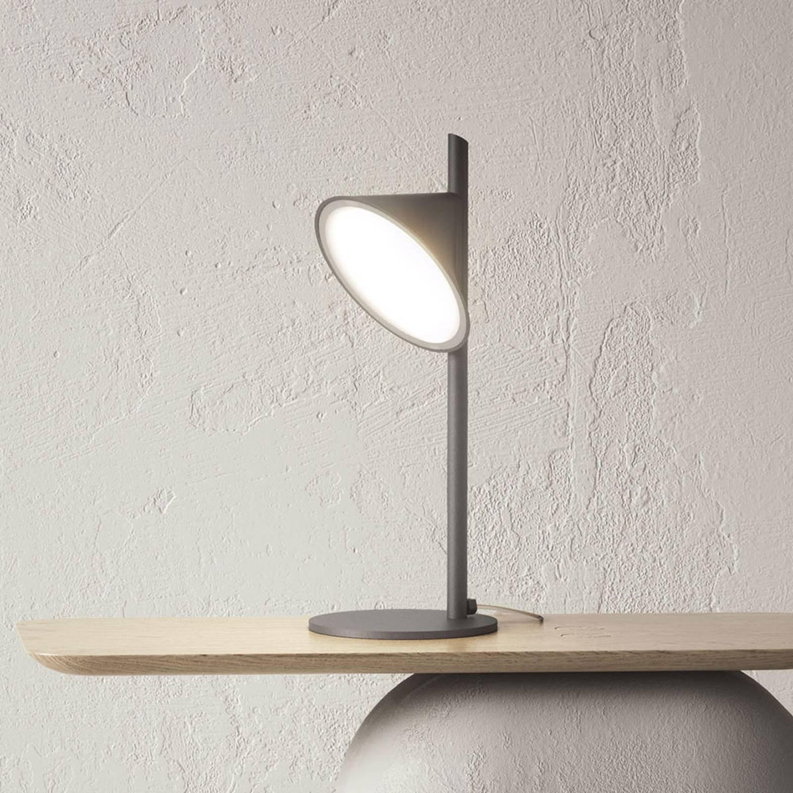 Axolight Orchid LED-bordlampe, mørkegrå