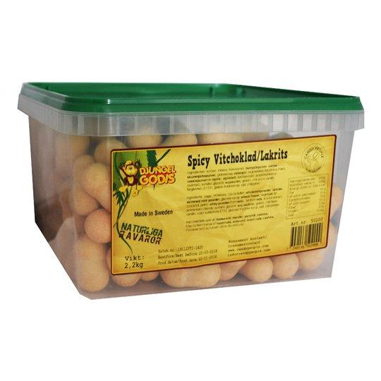"Hel Låda Godis ""Spicy Vit choklad & Lakrits"" 2,2kg - 38% rabatt"