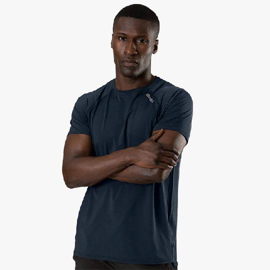 Workout Melange T-shirt, Dark Blue