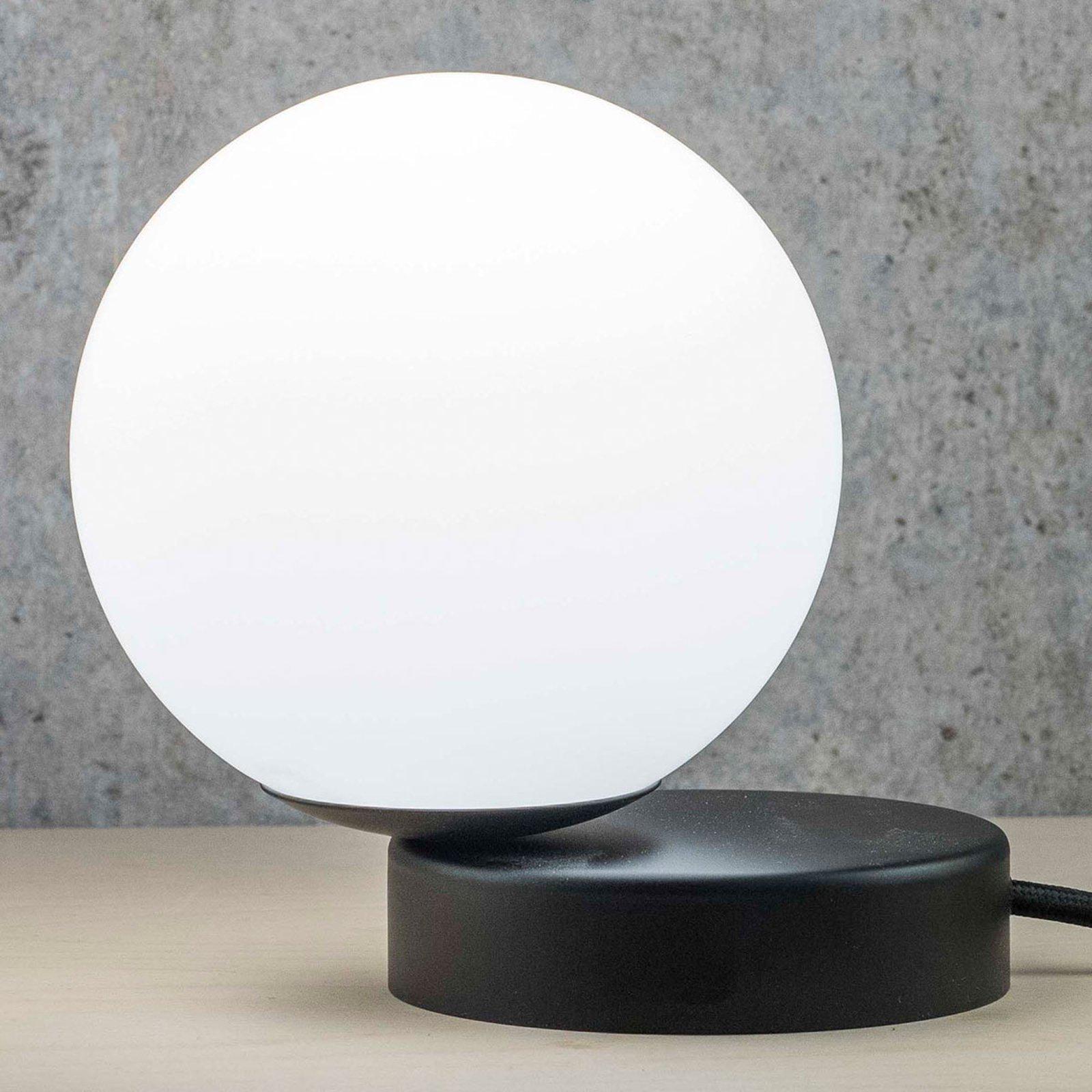 Lumi bordlampe rund svart