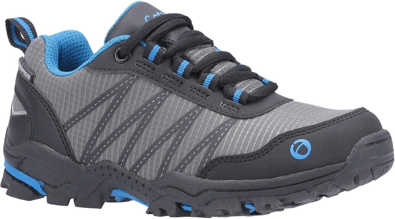 Cotswold Kids Littledean Lace Up Hiking Waterproof Boot Multicolor 30174 - Blue/Grey 10