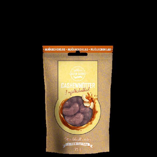 Cashewnötter i mjölkchoklad, 75 g