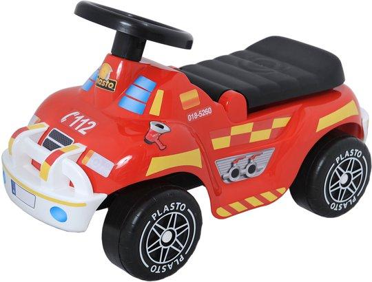 Plasto Gåbil Brannbil Med Stillegående Hjul