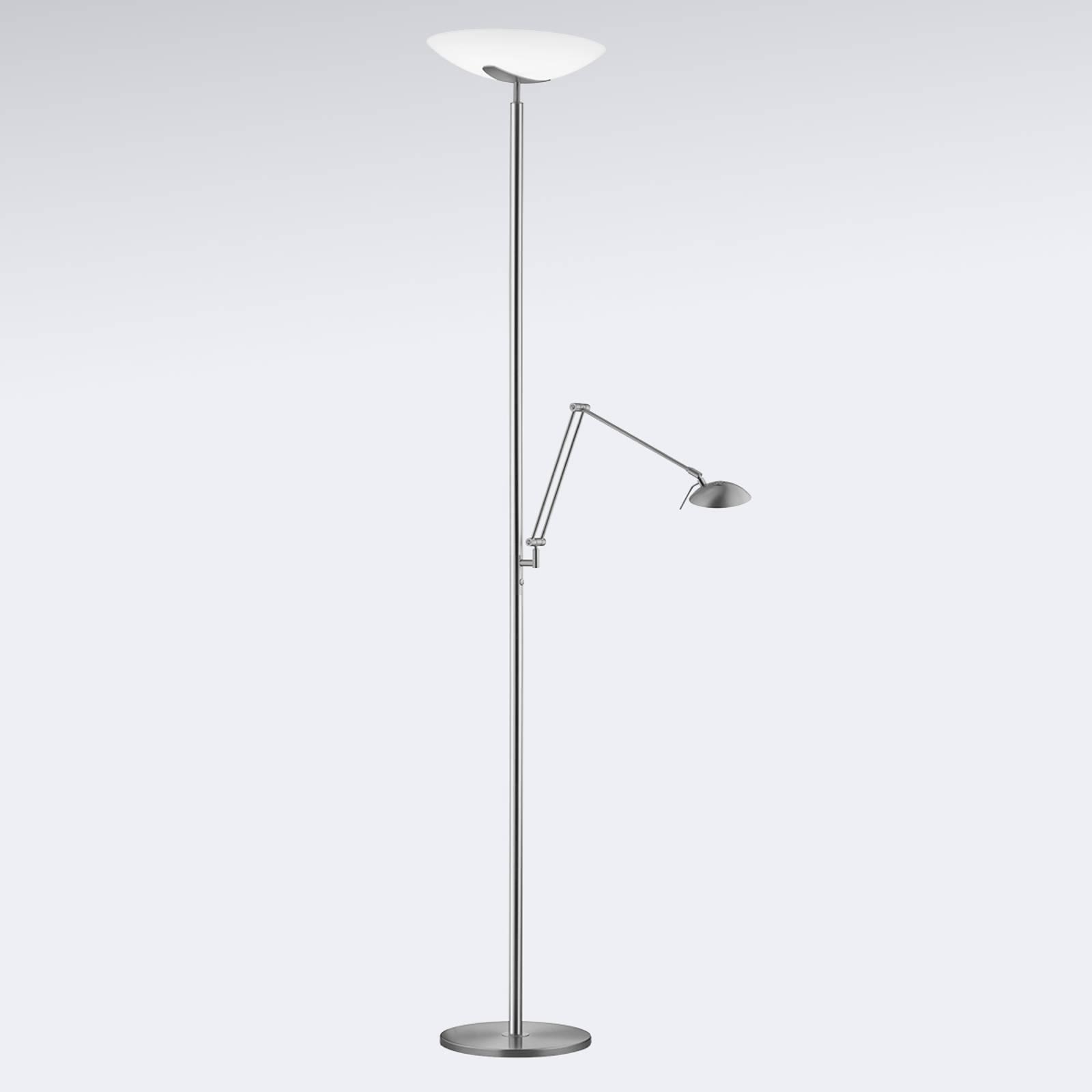 Ylöspäin suunnattu LED-valaisin Lya nikkeli/kromi