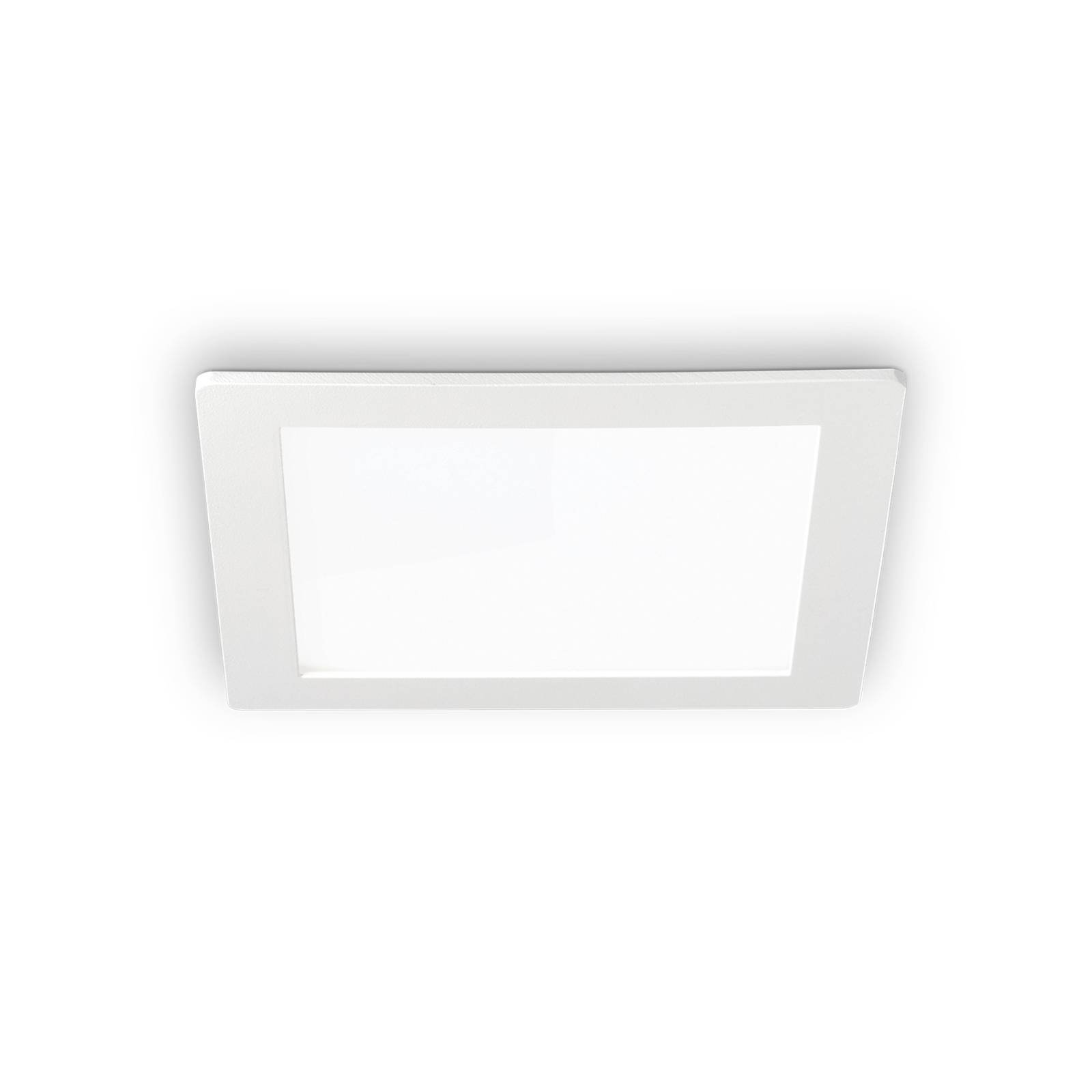 LED-taklampe Groove square 11,8x11,8 cm