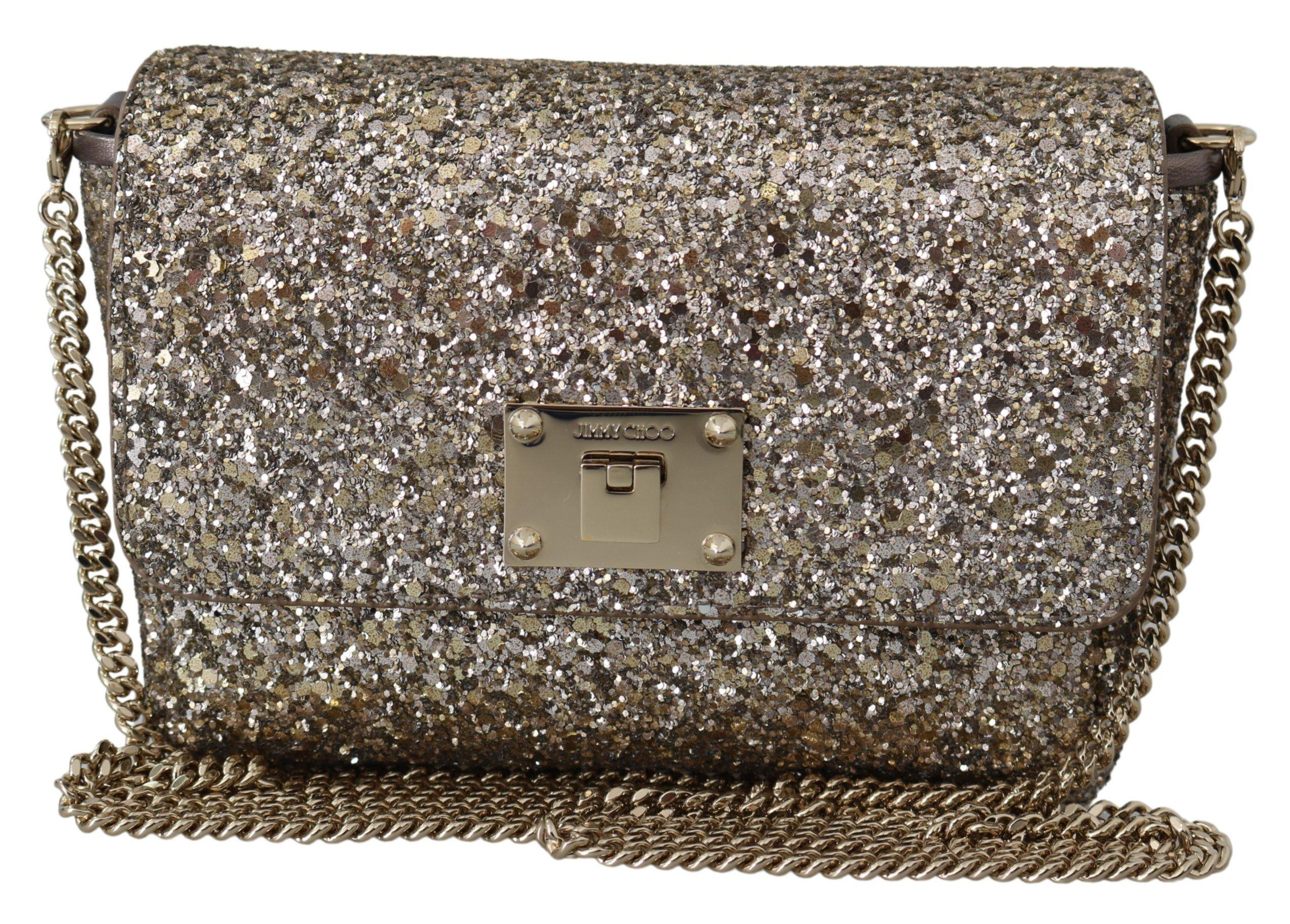 Jimmy Choo Women's Ruby Lace Antique Clutch Gold 1436035