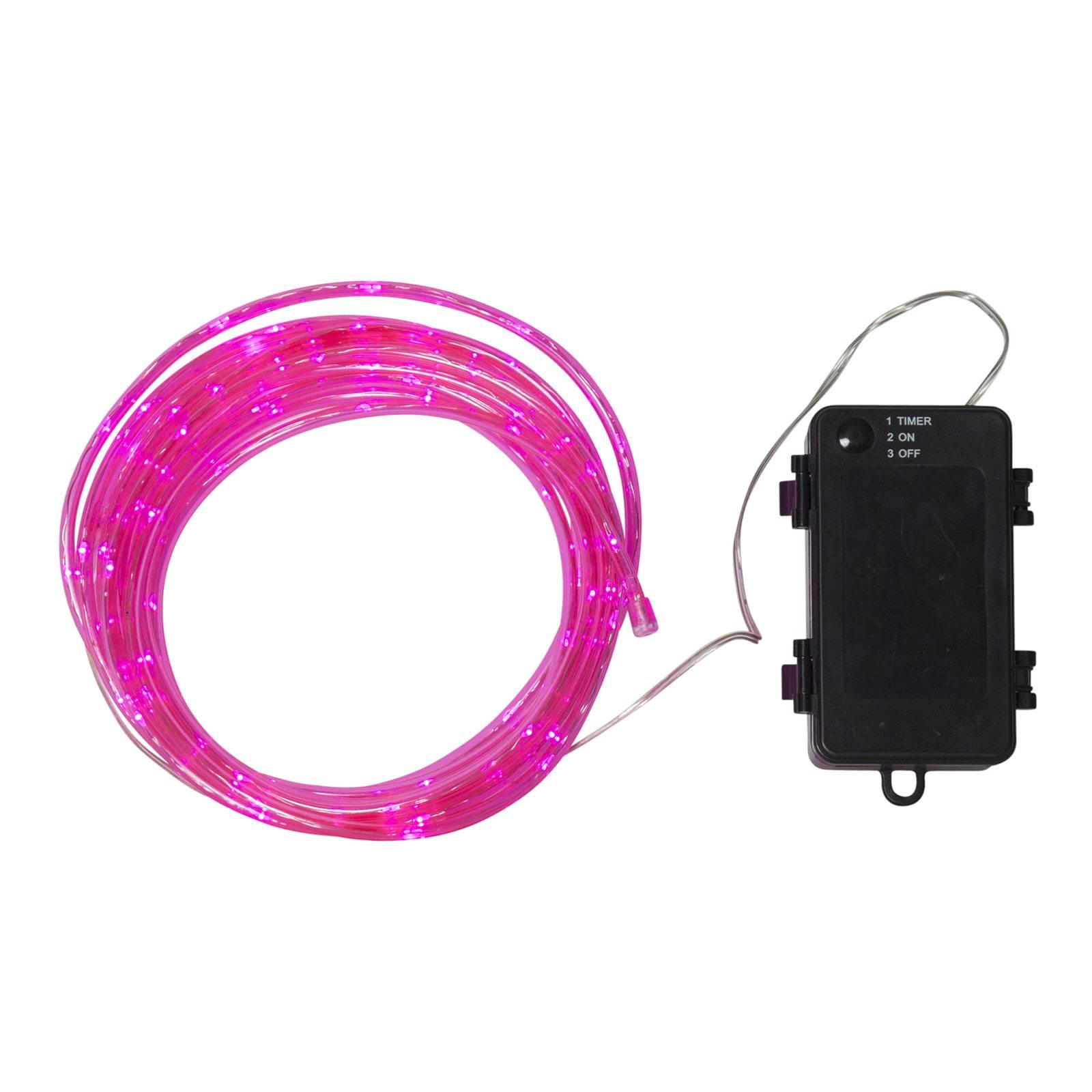 LLED-Lichtschlauch Tuby, batteriebetrieben, pink