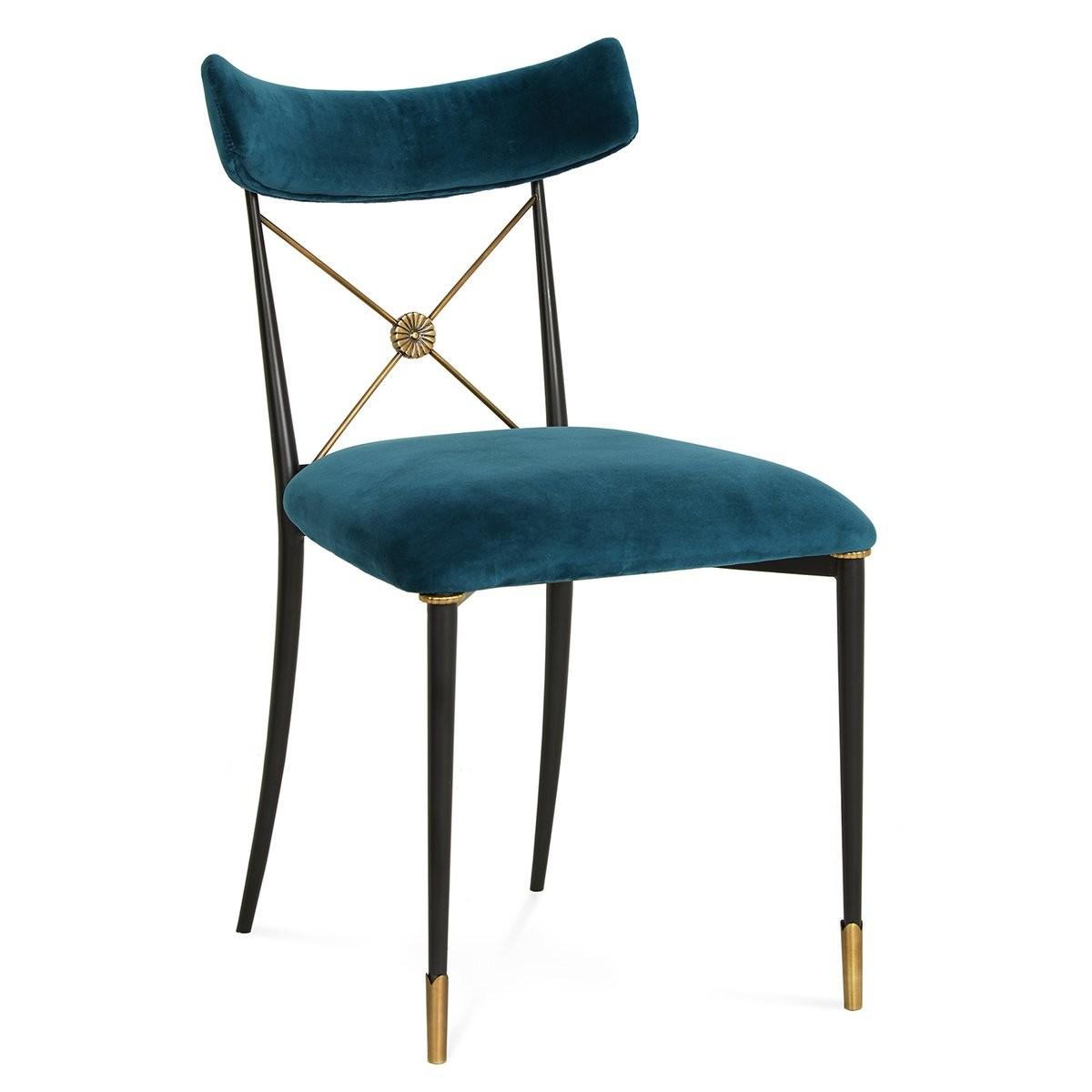 Jonathan Adler I Rider Dining Chair I Rialto Peacock