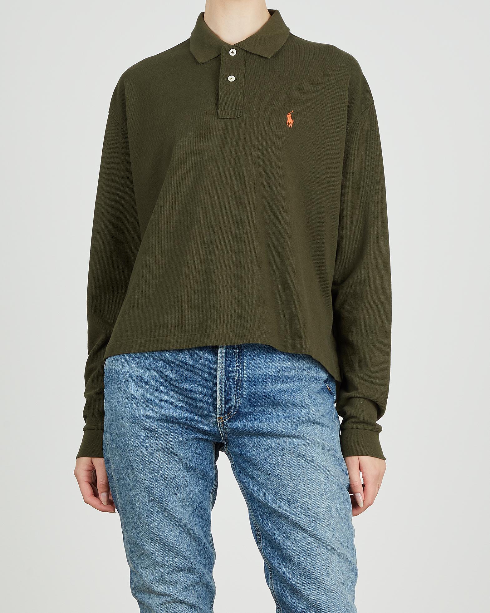 POLO Ralph Lauren Topp LS CRP Polo Shirt grön XS
