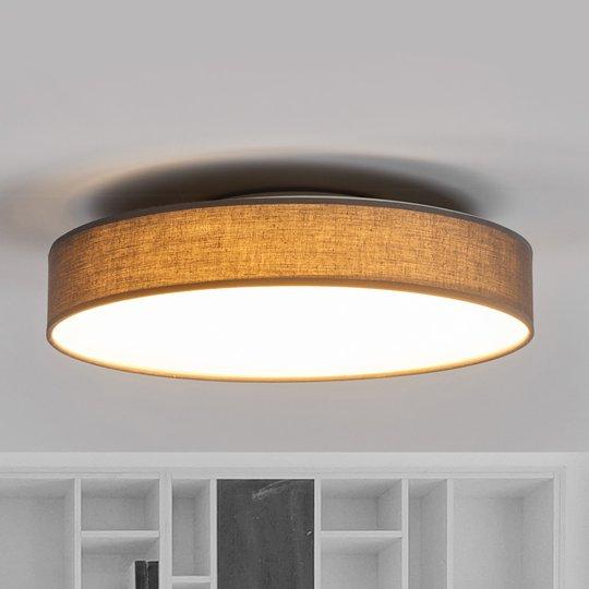 LED-kangaskattolamppu Saira, 40 cm, harmaa
