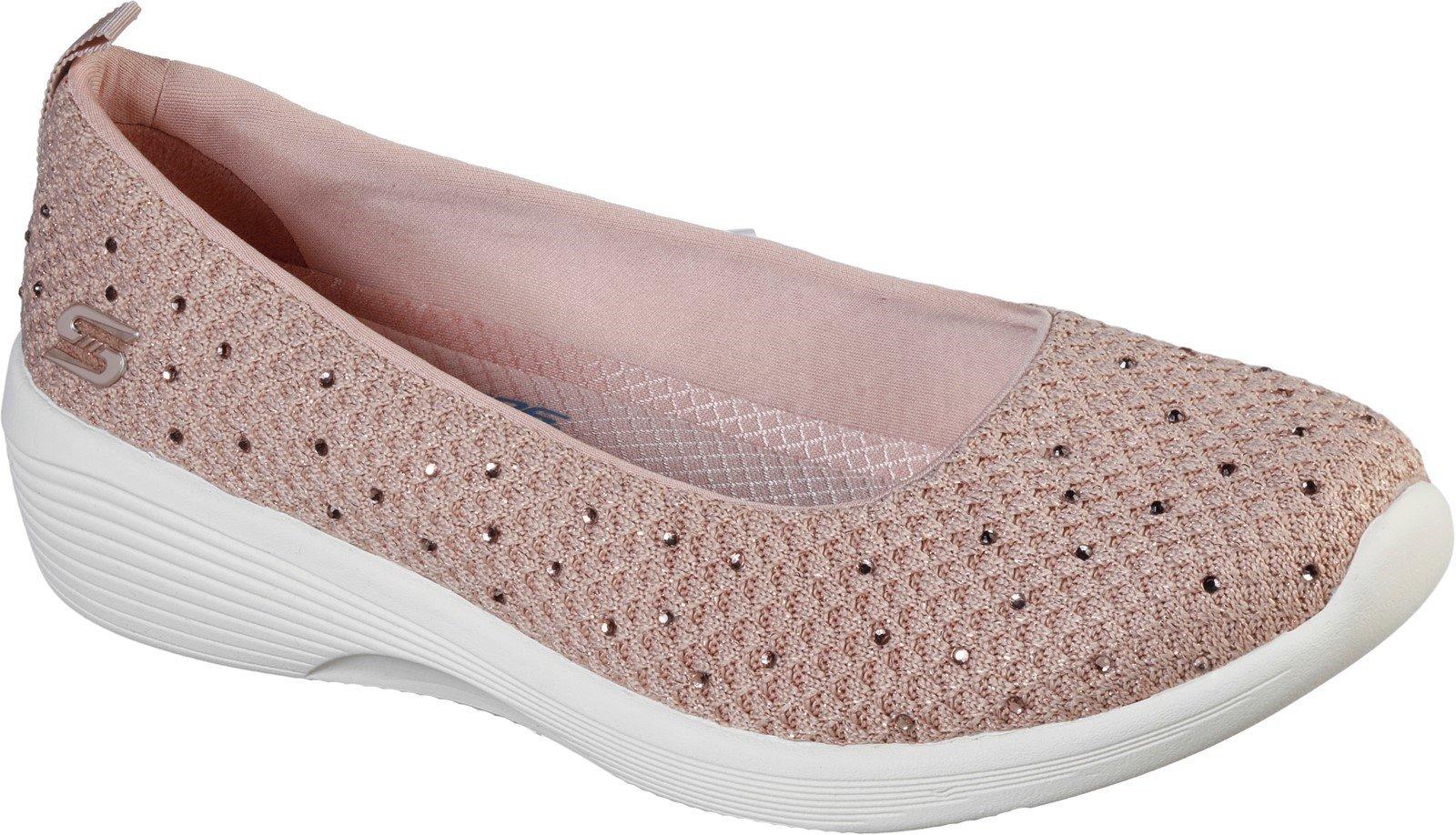 Skechers Women's Arya Sweet Glitz Sport Loafer Various Colours 32121 - Rose 3