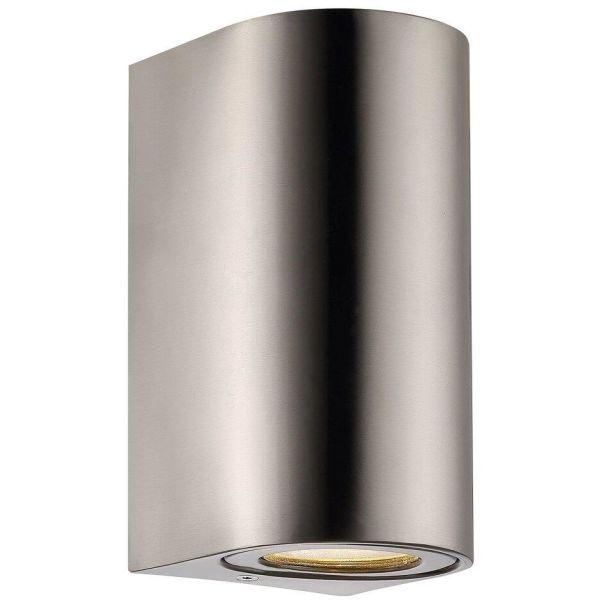 Nordlux CANTO 49721034 Seinävalaisin 2x6W LED, IP44, 2700K Ruostumaton teräs