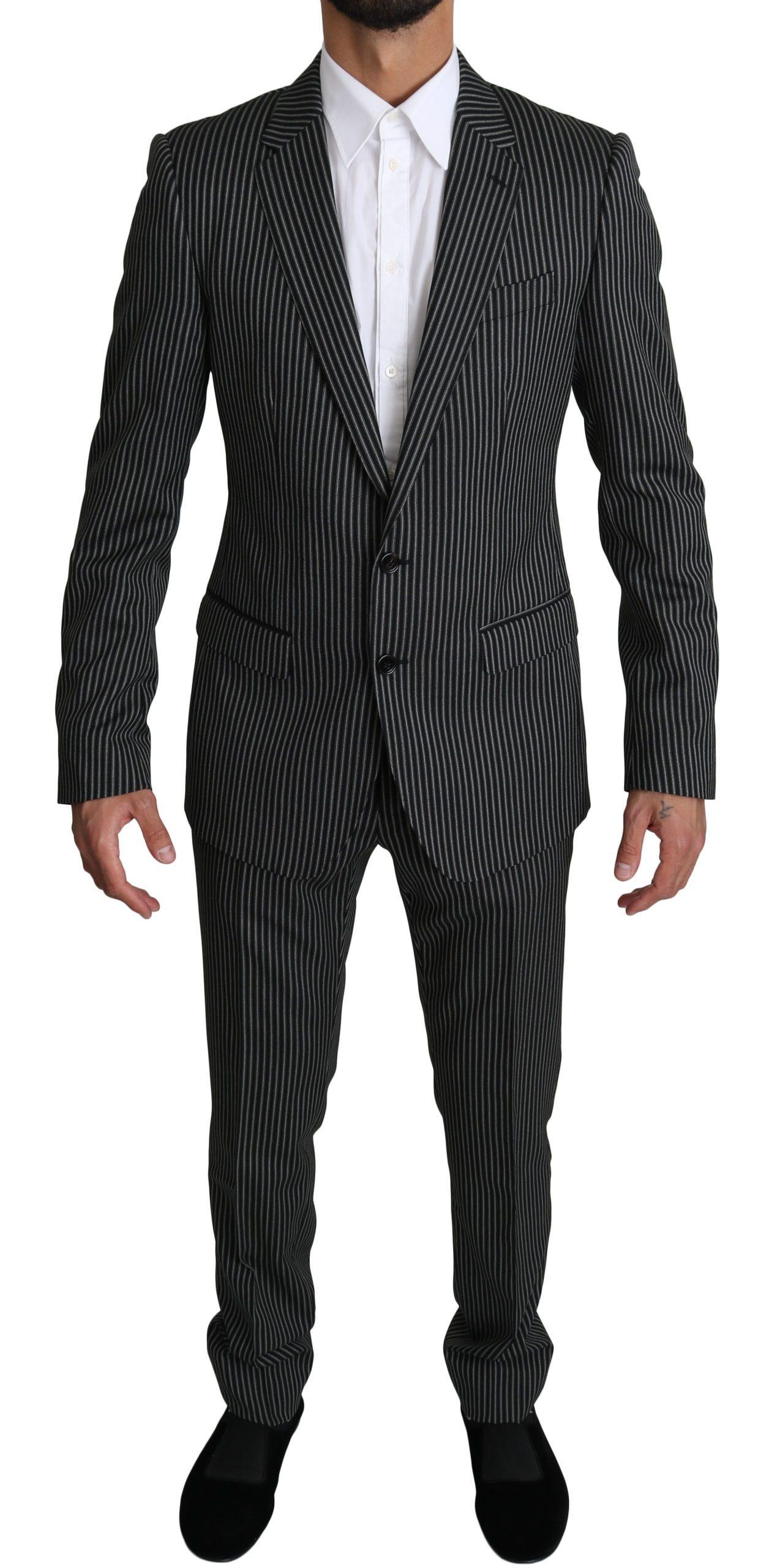 Dolce & Gabbana Men's Stripes 2 Piece MARTINI Suit Beige KOS1531 - IT48 | M