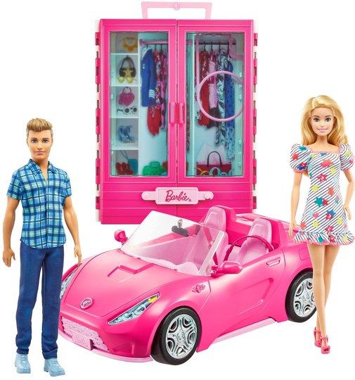 Barbie & Ken Dukke Med Bil og Garderobe