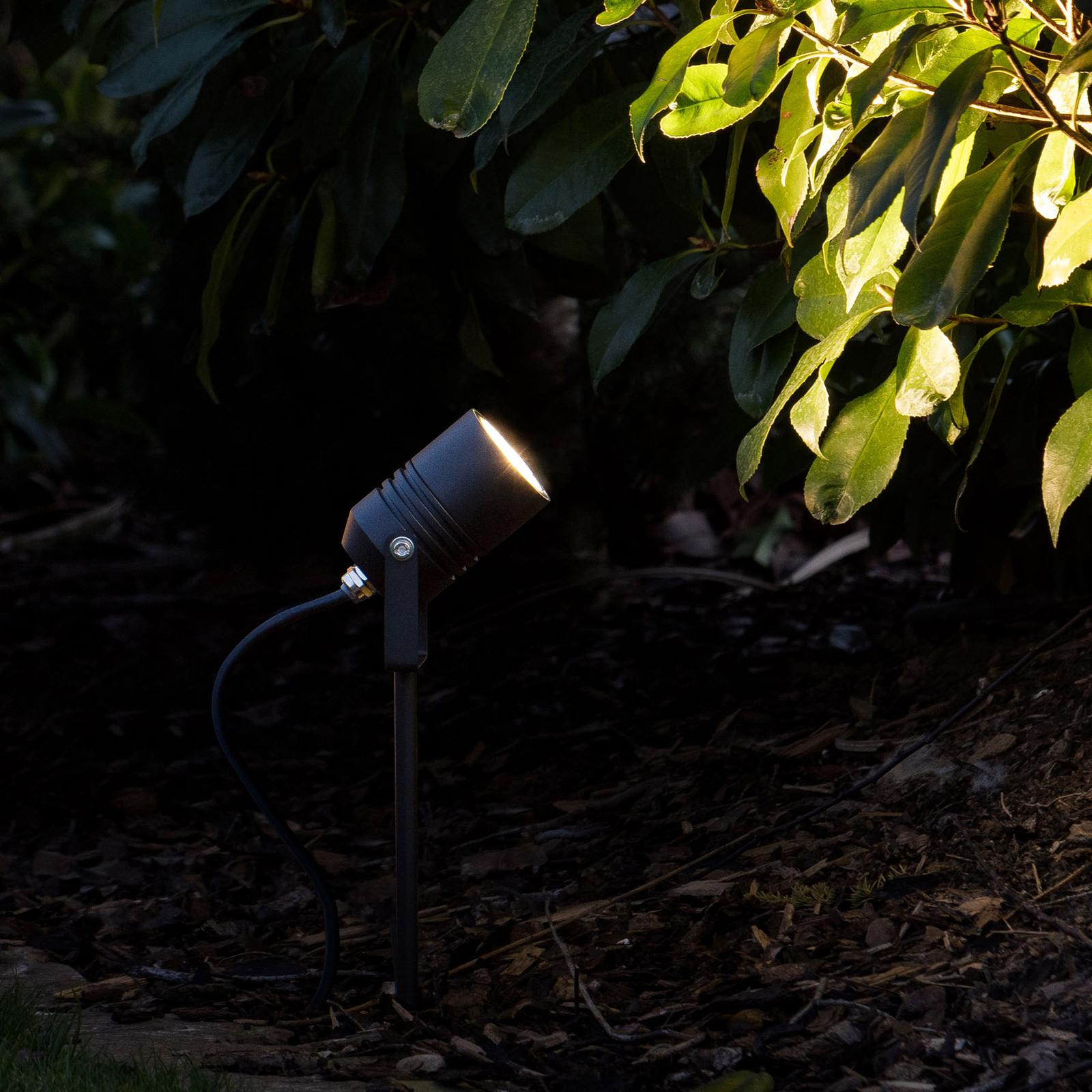 LED-maapiikkikohdevalo 5018, musta, IP65