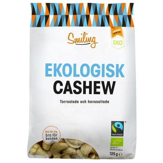 Eko Cashewnötter Havssalt 125g - 19% rabatt