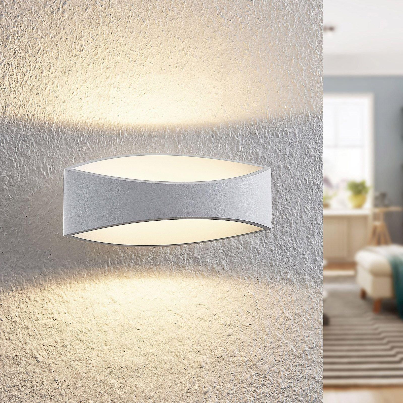 Arcchio Jelle LED-vegglampe, 25 cm, hvit