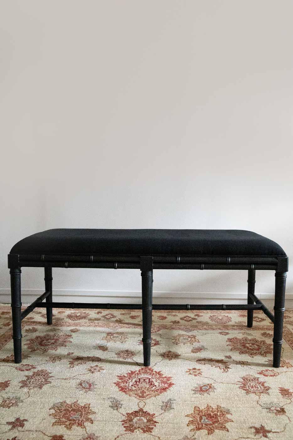 Bänk Bambu 119 cm svart