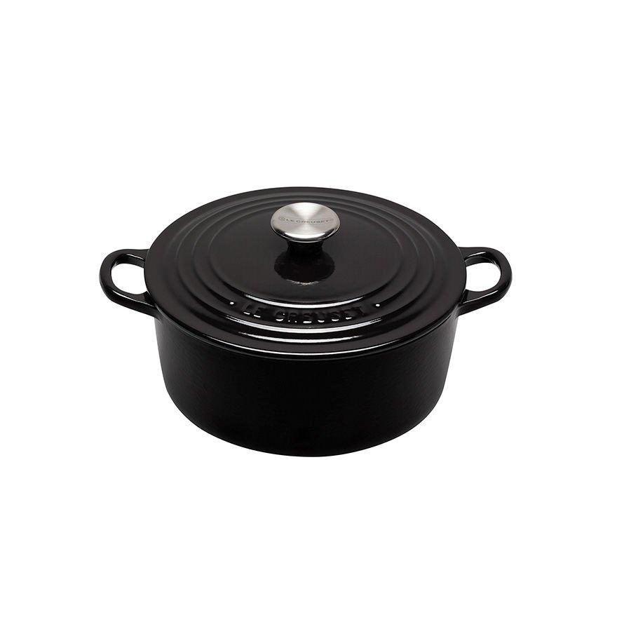 Le Creuset Black Støpejernsgryte 4,2L/24cm Sort