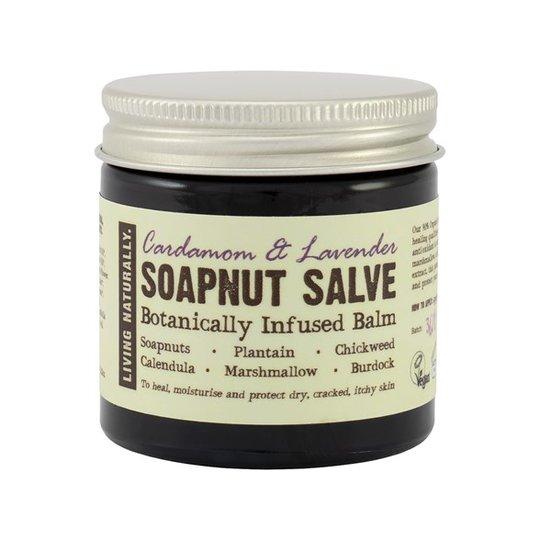 Living Naturally Cardamom & Lavender Soapnut Salve, 60 g