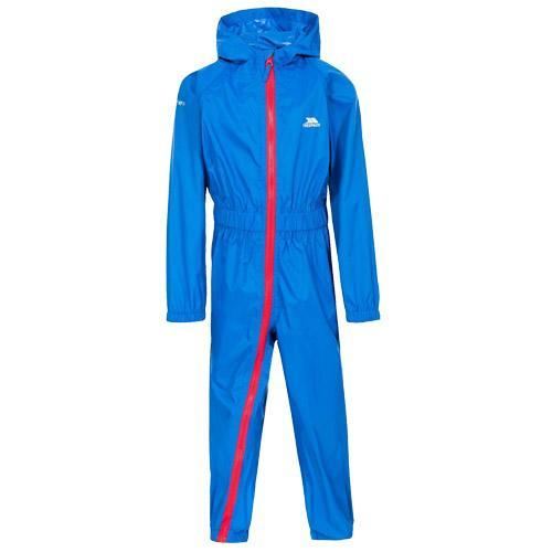 Trespass Kid's Waterproof All-In-One Suit Various Colours Button - Blue 6 to 12 Months