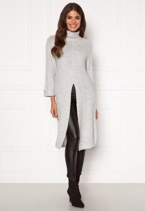 Happy Holly Milla long sweater Light grey melange 32/34
