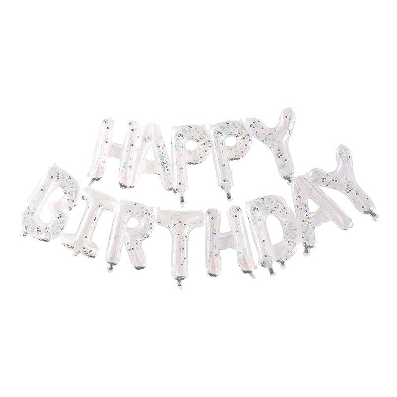 Ballonggirlang Happy Birthday Klar Konfetti