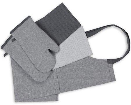Tekstilsett Recycle 5 deler Grå og Mørkegrå
