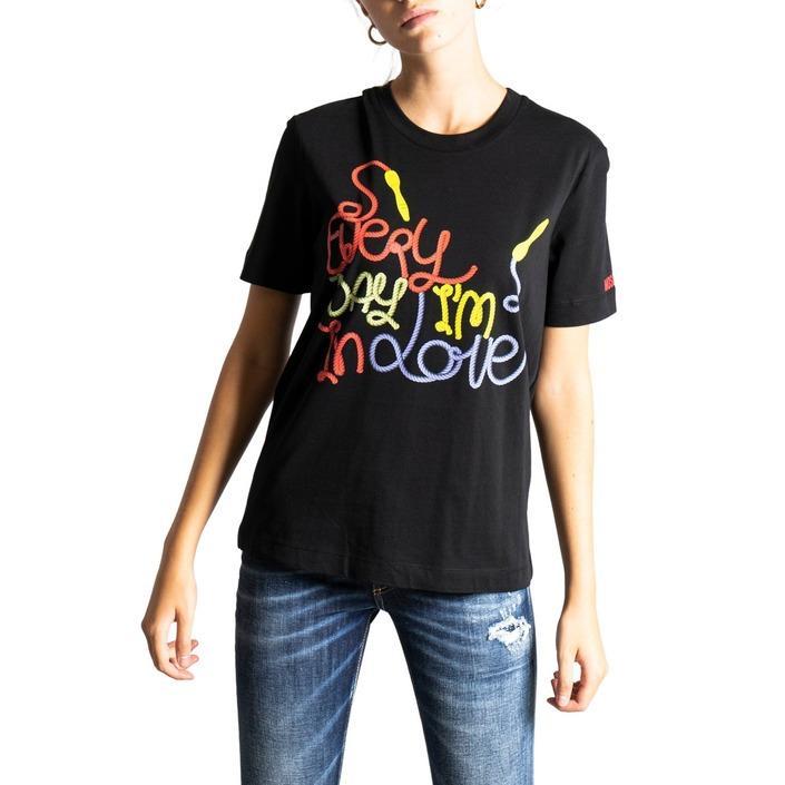 Love Moschino Women's T-Shirt Black 322058 - black 44
