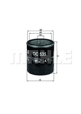 Öljynsuodatin MAHLE ORIGINAL OC 535