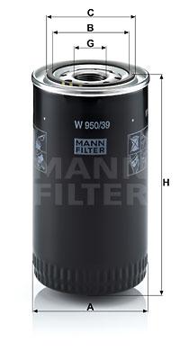 Öljynsuodatin MANN-FILTER W 950/39