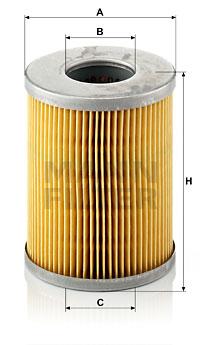 Polttoainesuodatin MANN-FILTER P 824 x