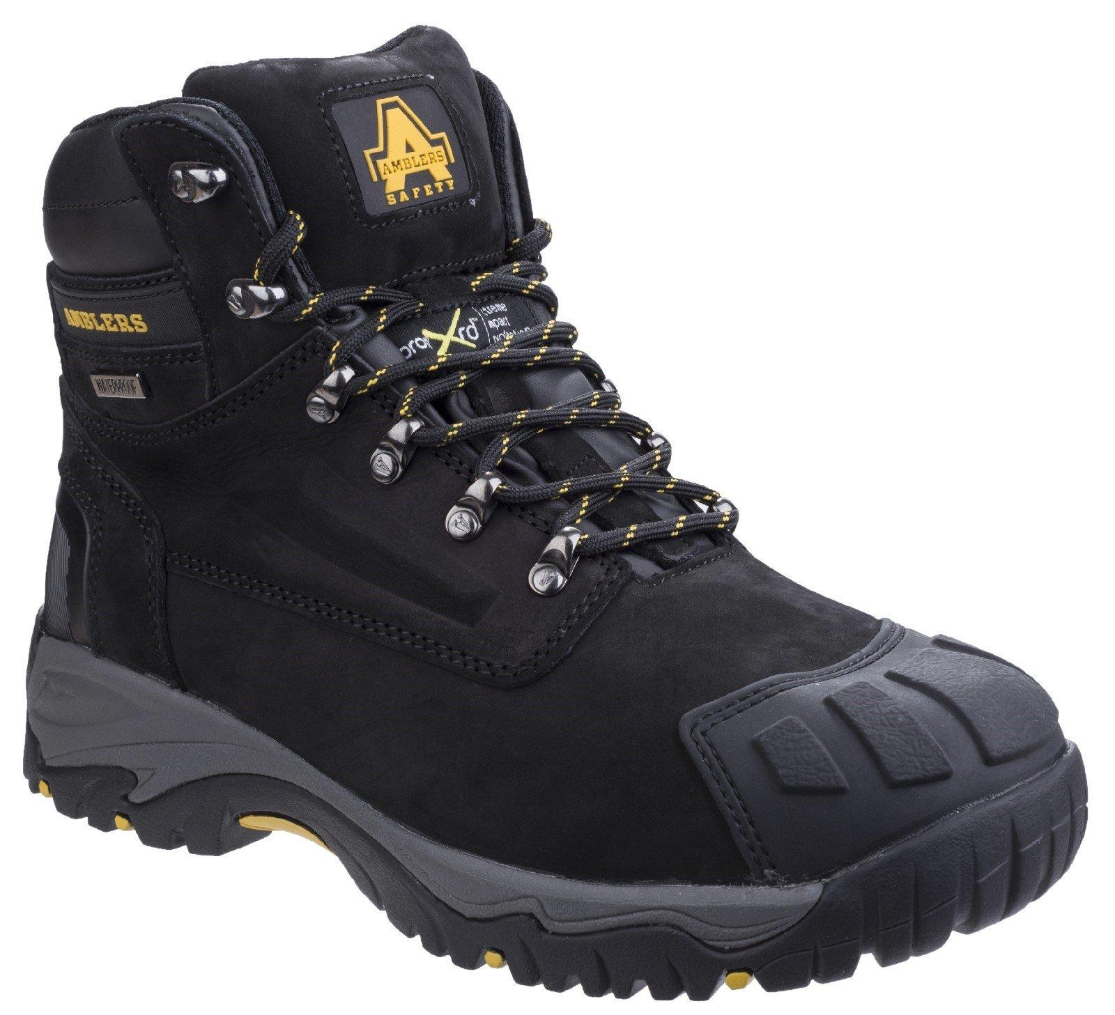 Amblers Unisex Safety Metatarsal Waterproof Lace Up Boot Black 20439 - Black 10