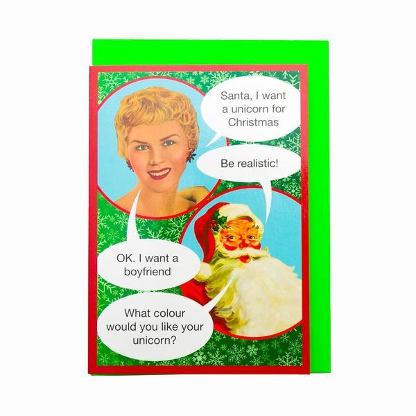 Unicorn Christmas Wish Greeting Card