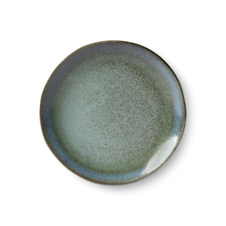 70's Dessert Tallrik Keramik Grön 17,5 cm