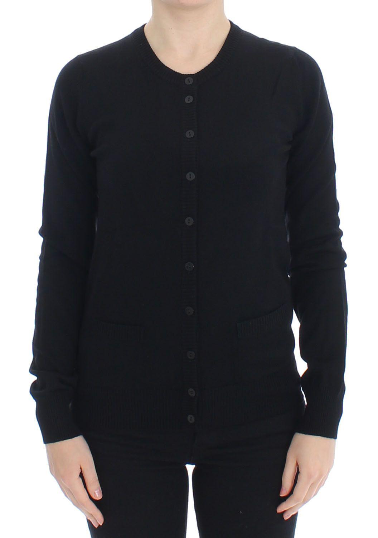 Dolce & Gabbana Women's Wool Button Cardigan Black SIG13365 - IT46|XL