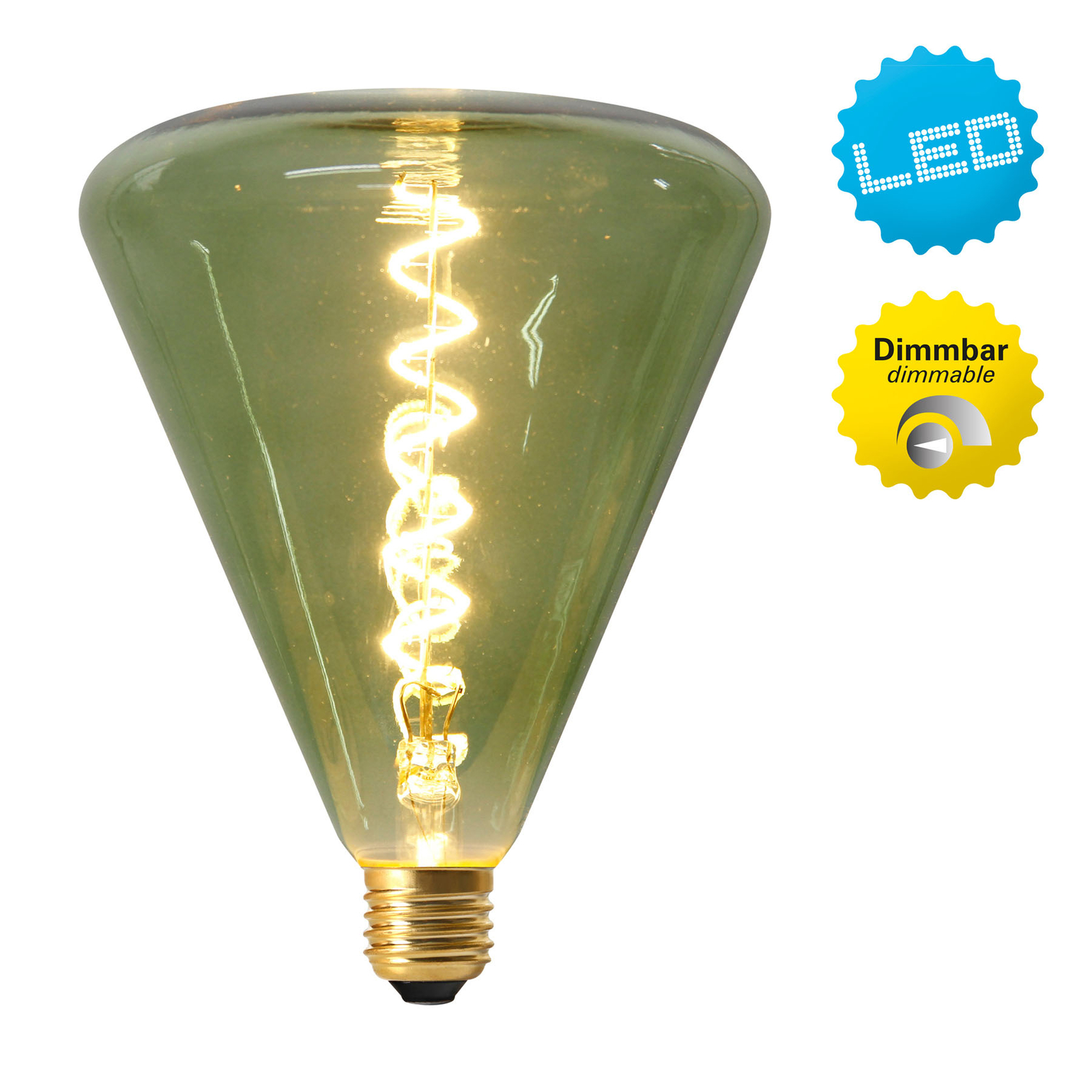 LED-globe-lamppu E27 4W 2 200 K, vihreä sävy