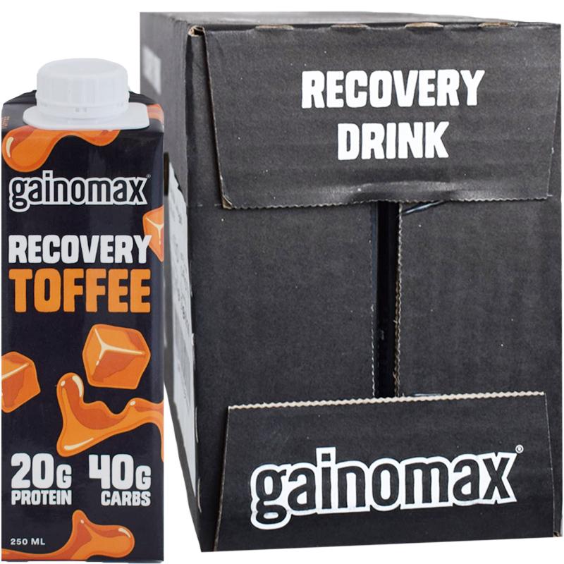 """Laatikollinen Proteiinijuomia """"Recovery Toffee"""" 16 x 250ml - 64% alennus"""