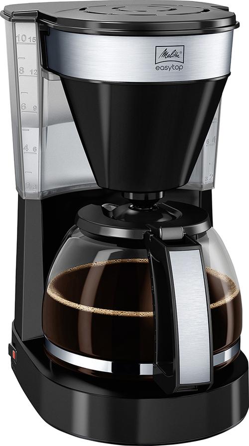 Melitta Easy Top Black Kaffebryggare - Svart/silver