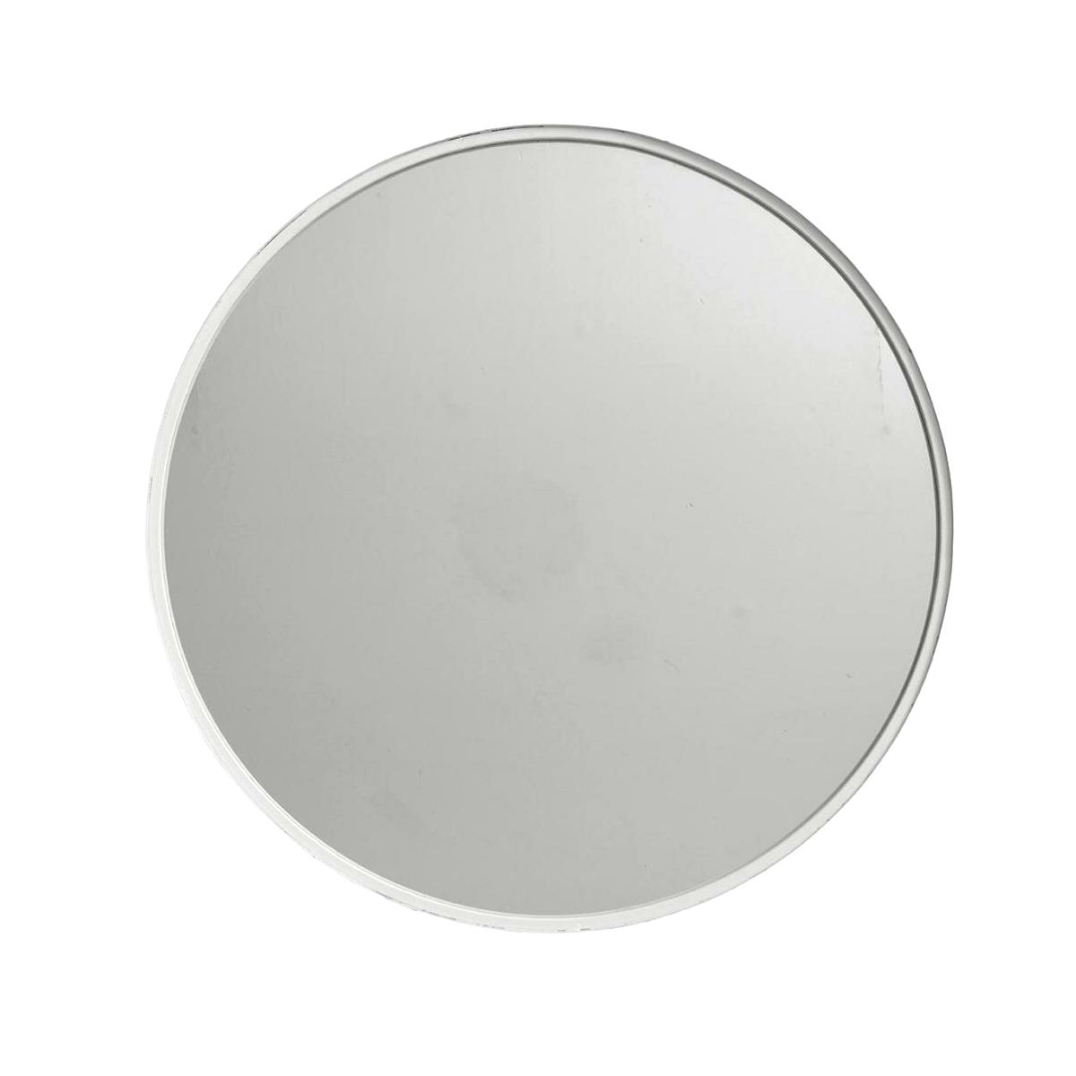 Rund spegel 80 cm vit, Nordal