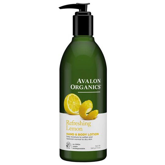 Avalon Organics Refreshing Lemon Hand & Body Lotion, 350 ml